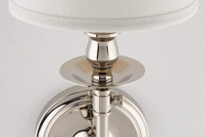 Hudson Valley Lighting Hudson Valley Lighting Logan Sconce - Polished Nickel & Off White 171-PN
