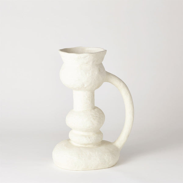 Global Views Remi Vase White