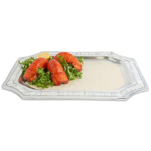 "Julia Knight Classic 20"" Octagonal Tray in Snow"