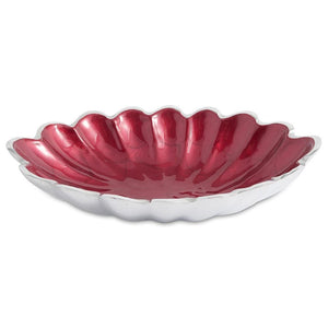 "Julia Knight Peony 8"" Oval Bowl in Pomegranate"