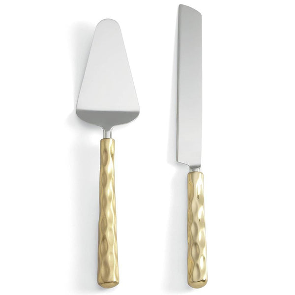 Michael Wainwright Truro Gold Cake Knife & Server Set 46TR28