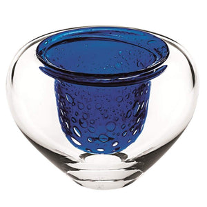 Vista Alegre Vista Alegre Unica Case with Dive Blue Centerpiece - 2 Available Sizes Tall 48003470