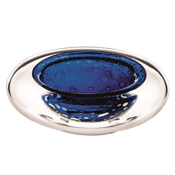 Vista Alegre Unica Case with Dive Blue Centerpiece - 2 Available Sizes