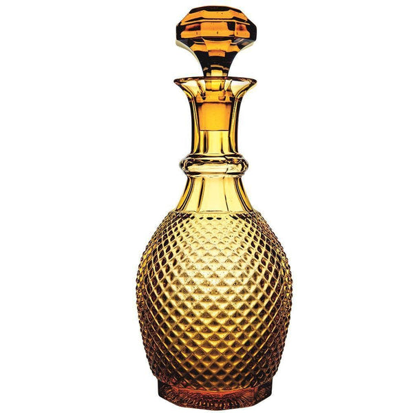 Vista Alegre Bicos Amber Wine Decanter