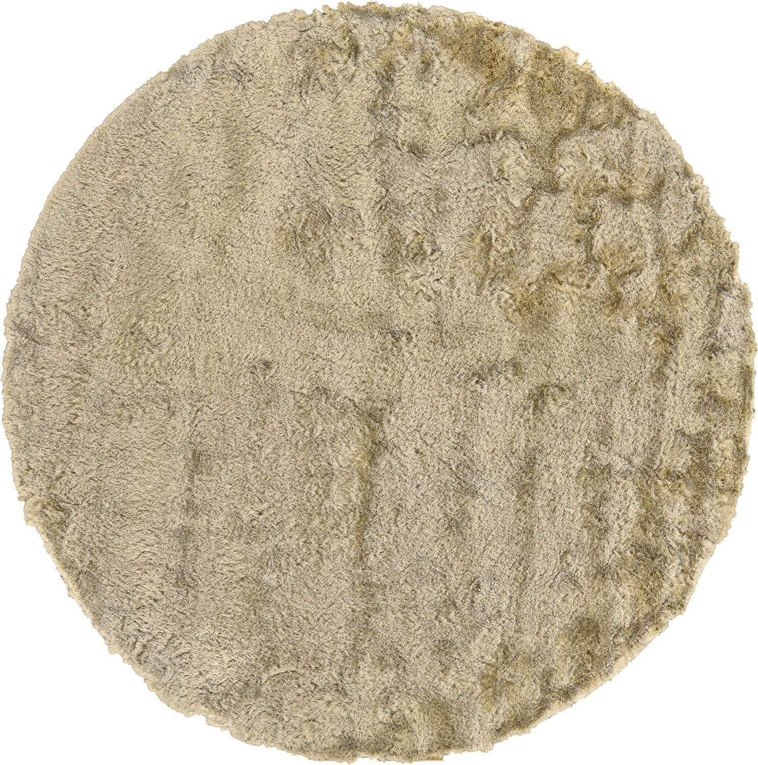 "Feizy Feizy Indochine Plush Shag Rug - Metallic Sheen Cream & Beige 2' x 3'-4"" 4944550FCRM000A25"