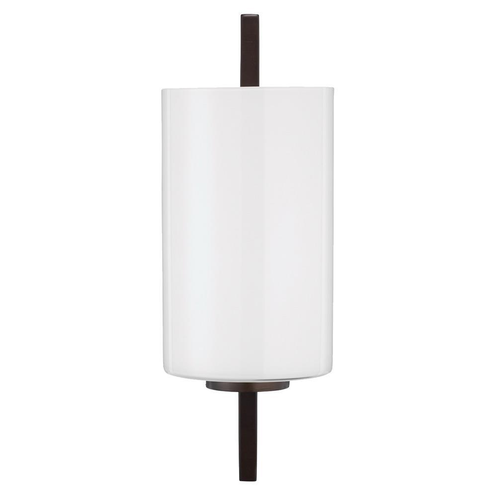 Jamie Young Jamie Young Blueprint Sconce in Oil Rubbed Bronze Metal and White Glass 4BLUE-SCOBWH