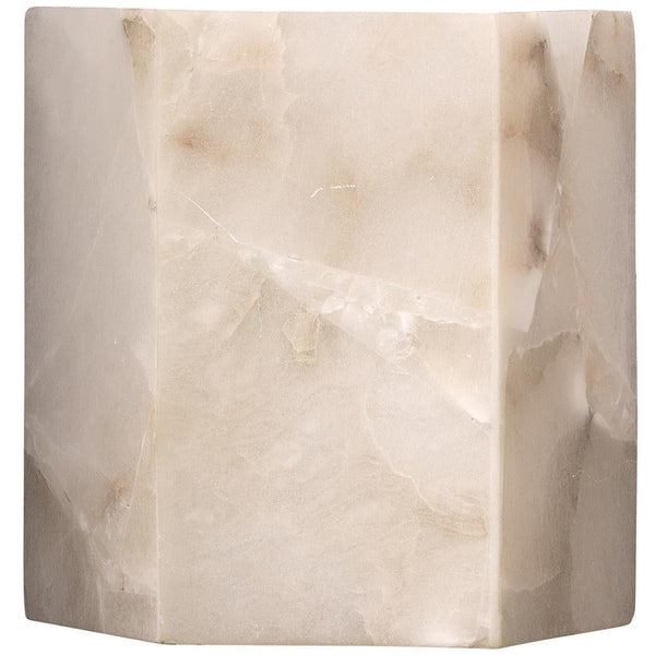 Jamie Young Borealis Hexagon Wall Sconce in Alabaster