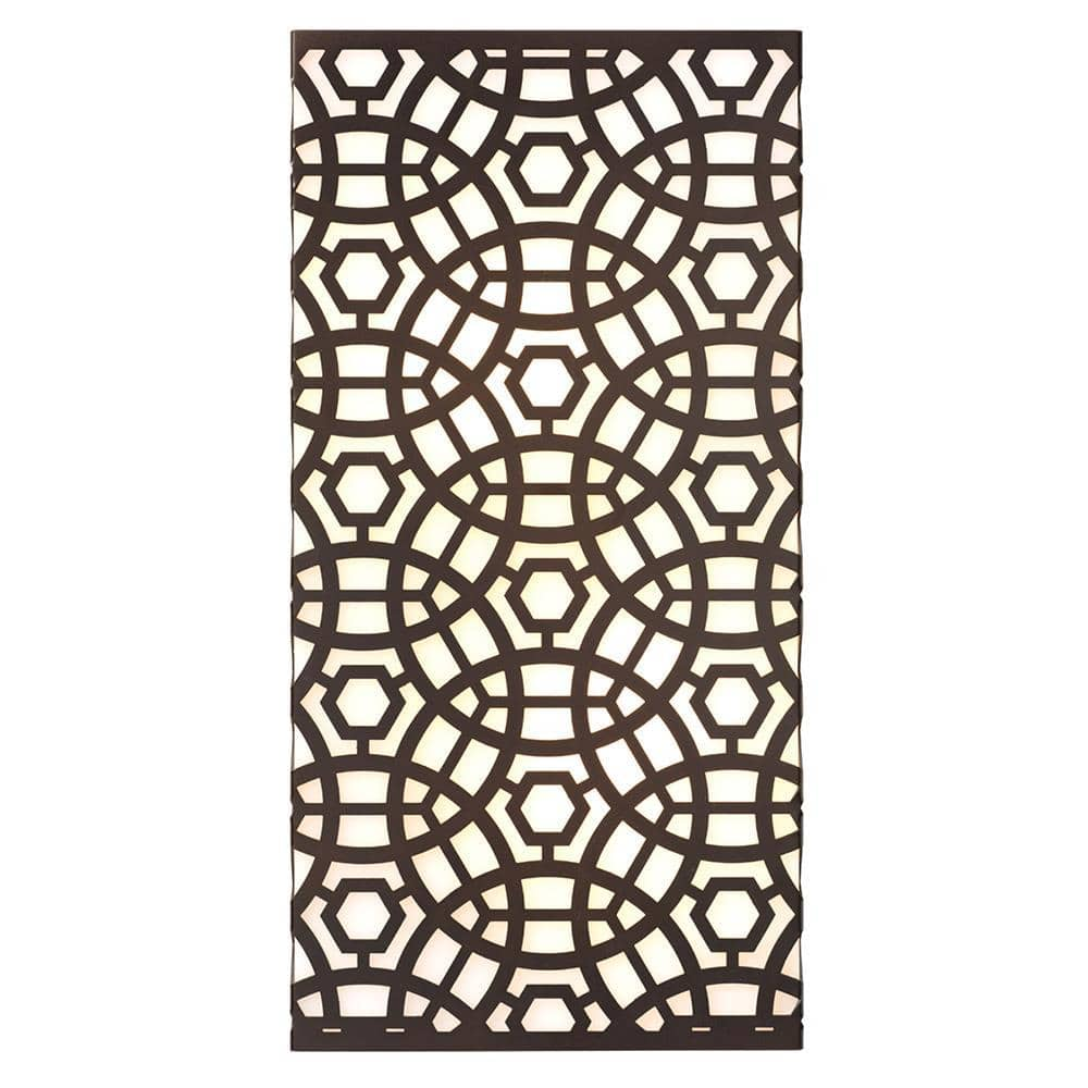 Jamie Young Jamie Young Large Geo Wall Sconce in Oil Rubbed Bronze Metal and Acrylic 4GEO-LGOB