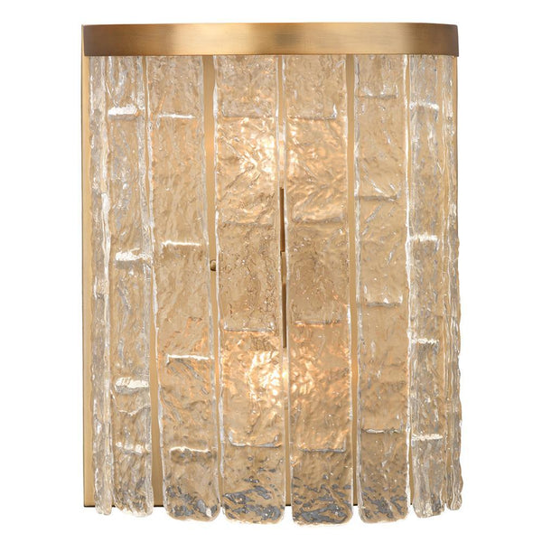 Jamie Young Large Waterfall Demi-Lune Sconce in Clear Glass