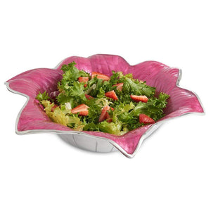 "Julia Knight Lily 15"" Bowl in Raspberry"