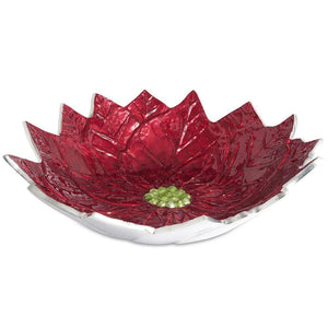 "Julia Knight Poinsettia 14"" Bowl in Pomegranate"