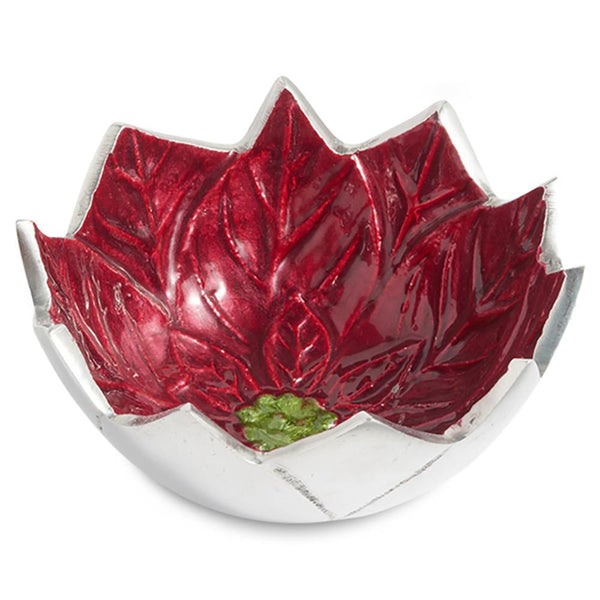 "Poinsettia 5"" Bowl in Pomegranate"