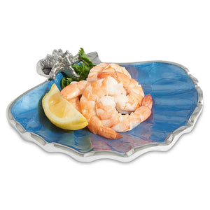 "Julia Knight Scallop Starfish 8.5"" Bowl in Azure"