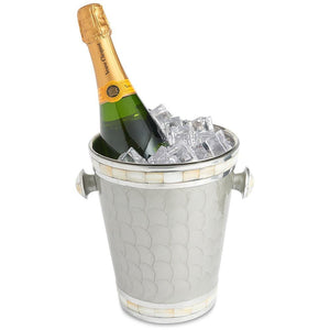 "Julia Knight Classic 8"" Ice Bucket in Platinum"