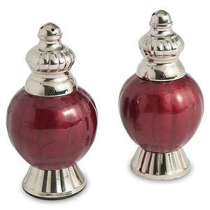 "Julia Knight Peony 4"" Salt and Pepper Set in Pomegranate"