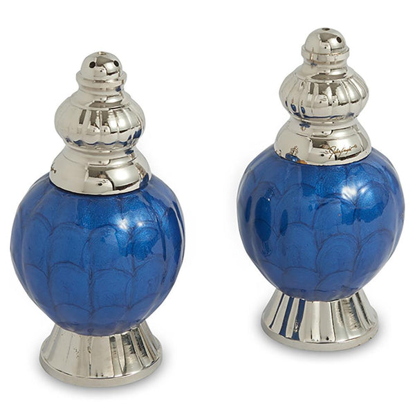 "Julia Knight Peony 4"" Salt and Pepper Set in Sapphire"
