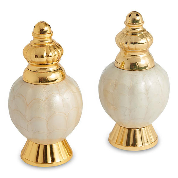 "Julia Knight Julia Knight Peony 4"" Salt and Pepper Set in Gold Snow 5540315"