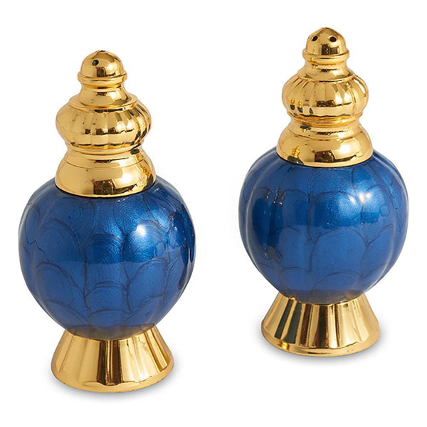 "Julia Knight Peony 4"" Salt and Pepper Set in Gold Sapphire"