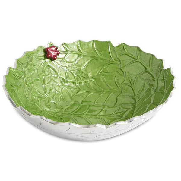 "Julia Knight Holly Sprig 12"" Bowl in Mojito"