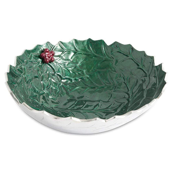 "Julia Knight Holly Sprig 12"" Bowl in Emerald"