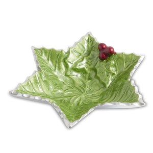 "Julia Knight Holly Sprig 6"" Starflake Bowl in Mojito"