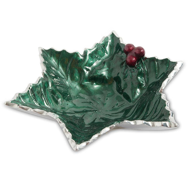 "Julia Knight Holly Sprig 6"" Starflake Bowl in Emerald"