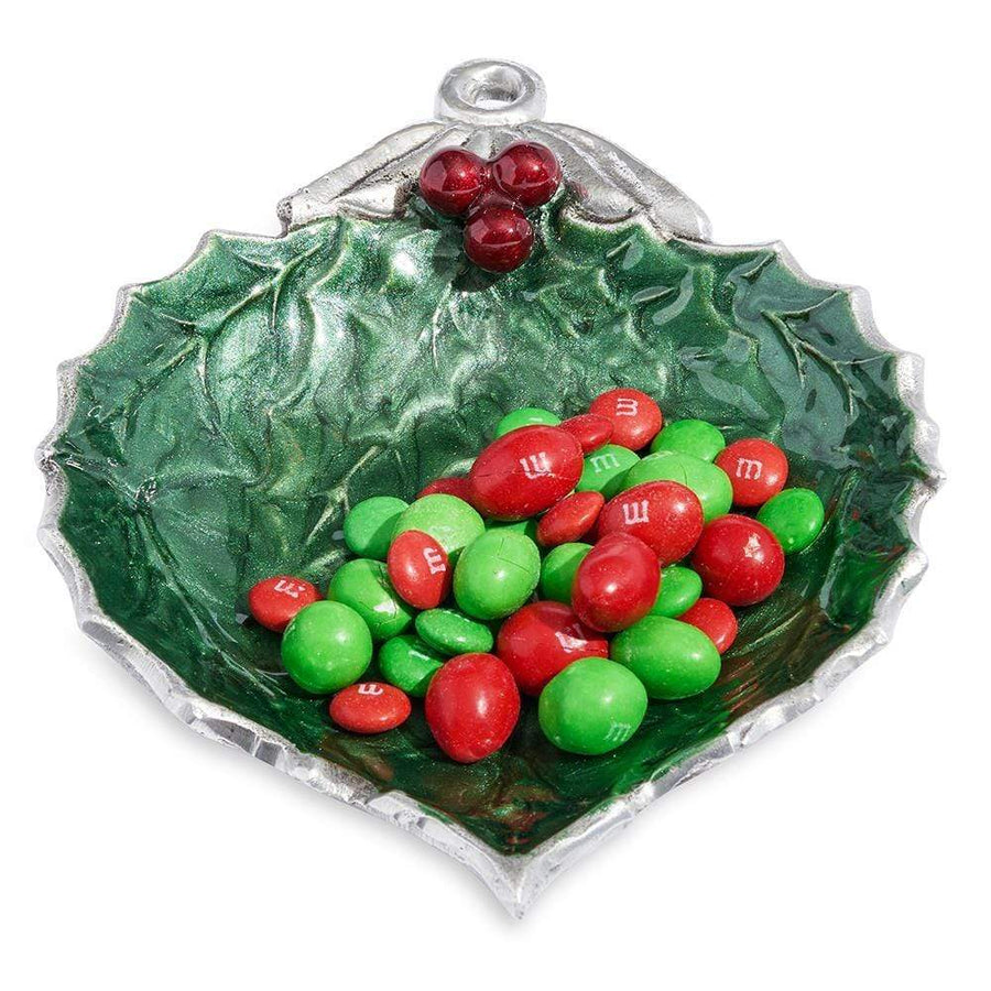 "Julia Knight Holly Sprig 7"" Ornament Bowl in Emerald"