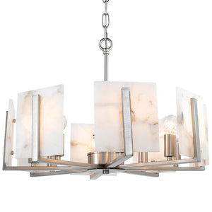 Jamie Young Halo Chandelier in Silver and Alabaster -Silver