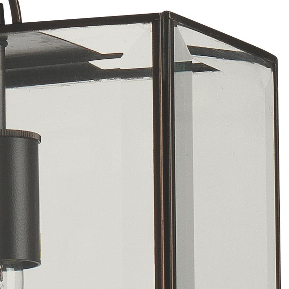 Jamie Young Jamie Young Harlem Wide Pendant in Oiled Bronze and Clear Glass 5HARL-PDOB
