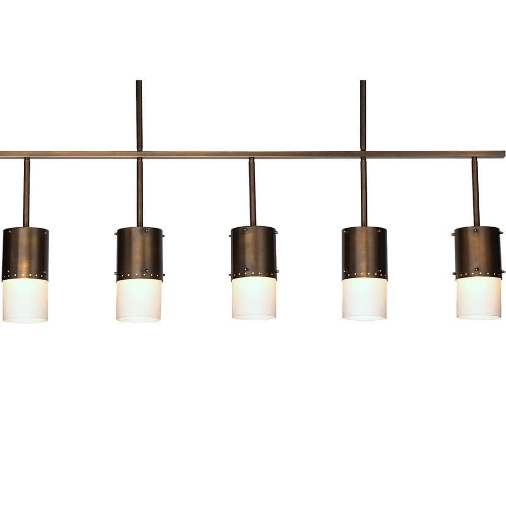 Jamie Young Jamie Young Lazio Five Light Chandelier in Oiled Bronze Patina 5LAZI-CHOB