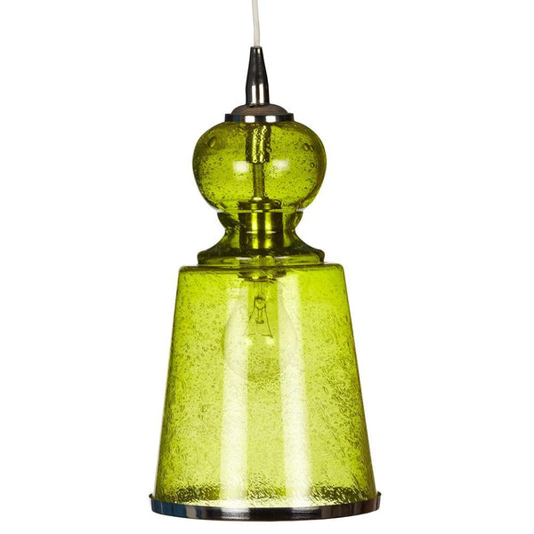 Jamie Young Jamie Young Long Lafitte Pendant in Celadon Seeded Glass 5LONG-LGCE