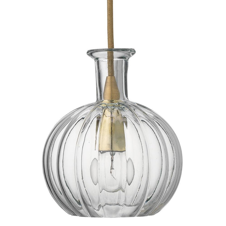 Jamie Young Sophia Carafe Pendant in Clear Glass