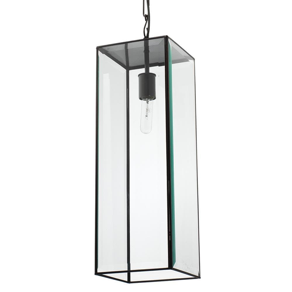 Jamie Young Jamie Young Tribecca Long Pendant in Oiled Bronze and Clear Glass 5TRIB-PDOB