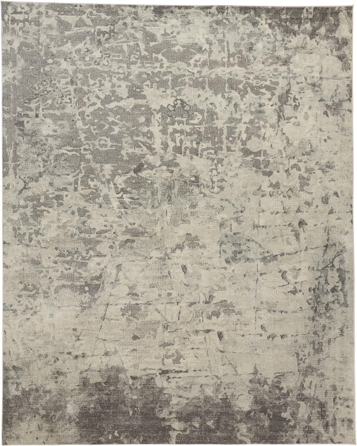Feizy Feizy Sorel Distressed Abstract Rug - Available in 5 Sizes - Beige & Opal Gray 5' x 8' 6093276FSLVIVYE10