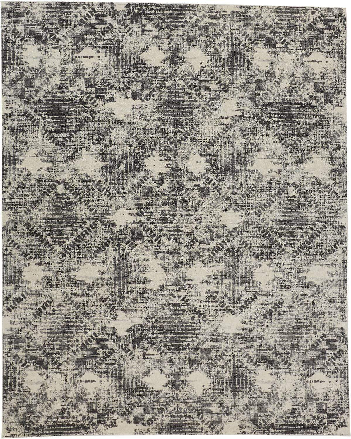 Feizy Feizy Sorel Distressed Abstract Rug - Available in 5 Sizes - Gunmetal Gray & Beige 5' x 8' 6093299FGRYBGEE10