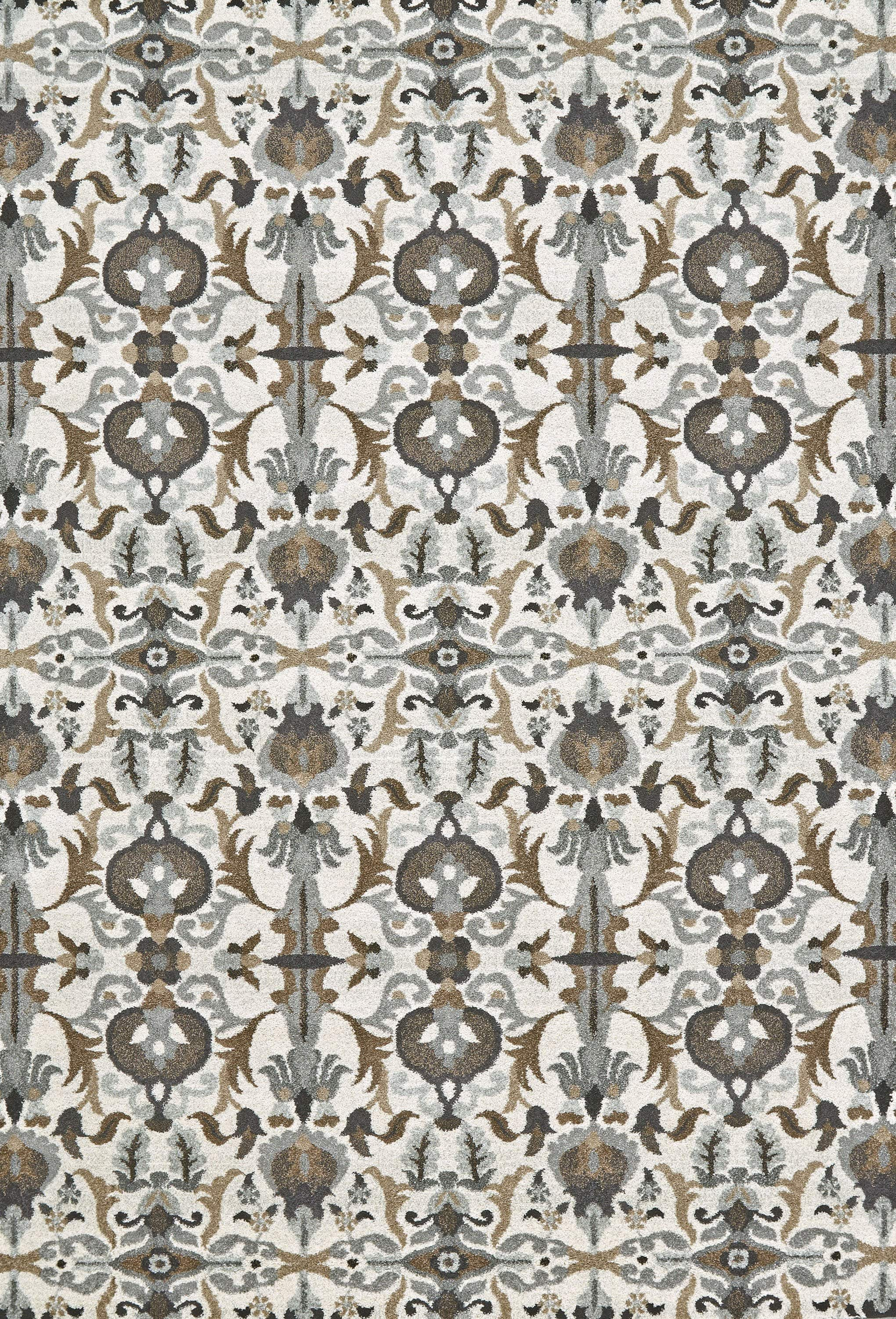 Feizy Sorel Contemporary Ornamental Rug - Available in 5 Sizes - Gray & Brown - 2'-10