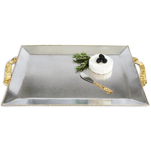 "Julia Knight Sierra 20"" Rectangular Tray in Frosted"