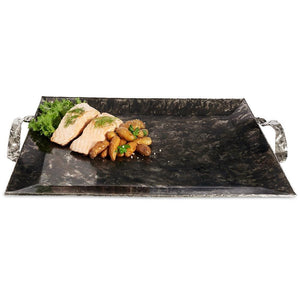 "Julia Knight Sierra 20"" Rectangular Tray in Graphite"