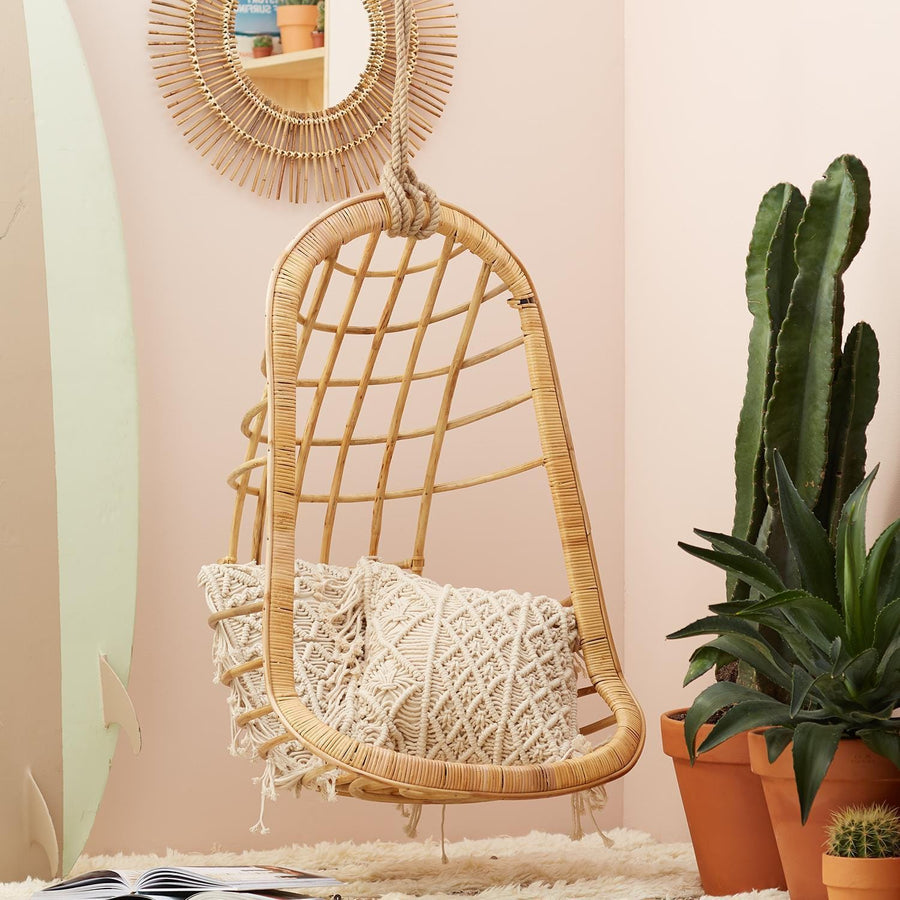 Two's Company Hanging Rattan Chair | Alchemy Fine Home
