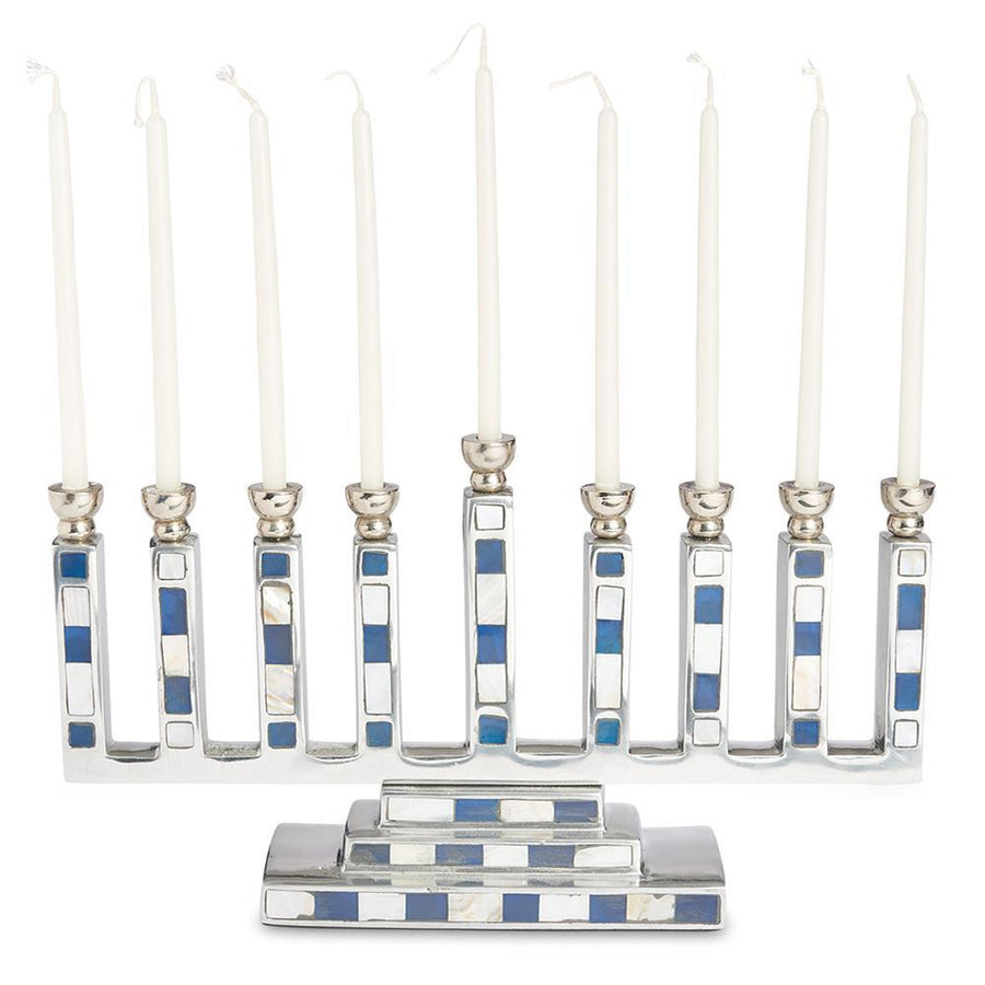 Julia Knight Classic Menorah in Mosaic Azure