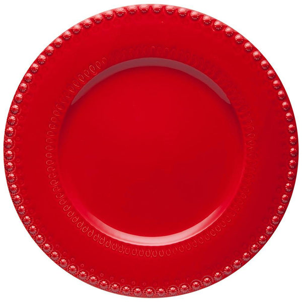 "Bordallo Pinheiro Fantasy 13"" Red Charger Plate"