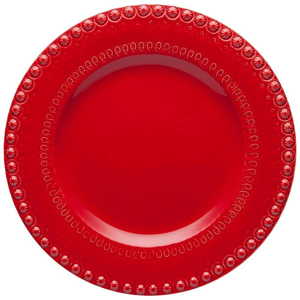 "Bordallo Pinheiro Fantasy 11.5"" Red Dinner Plate"