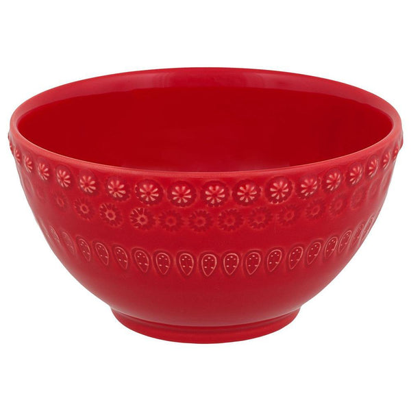 "Bordallo Pinheiro Fantasy 6"" Red Cereal Bowl"