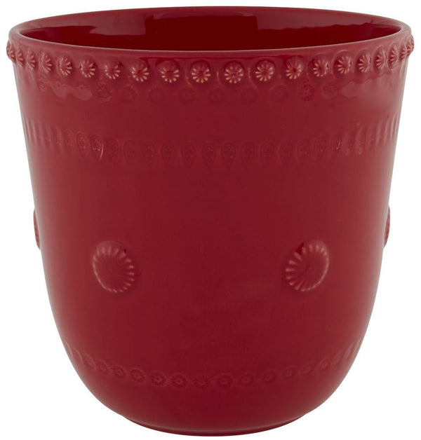 "Bordallo Pinheiro Fantasy 8"" Red Vase"
