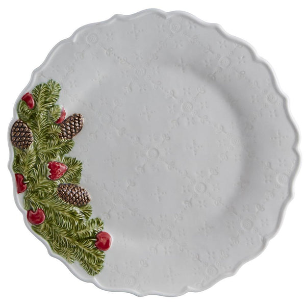 Bordallo Pinheiro Bordallo Pinheiro Christmas Garland - Dessert Plate, set of 4 65021617