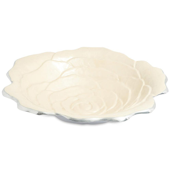 "Julia Knight Rose 15"" Bowl in Snow"