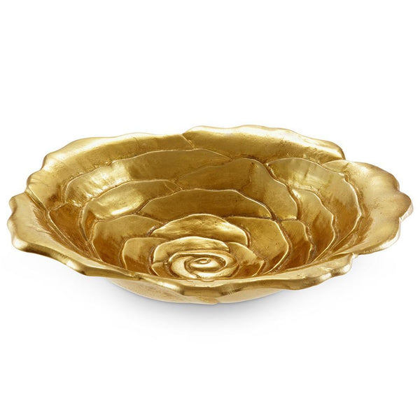 "Rose 15"" Bowl in Gold"