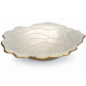 "Julia Knight Rose 15"" Bowl in Gold Snow"