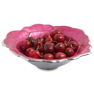 "Julia Knight Rose 8"" Bowl in Raspberry"