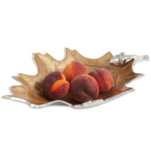 "Julia Knight Oak Leaf 15"" Bowl in Toffee"